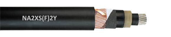 PE Sheath Aluminum Conductor MV Cable , NA2XS F 2Y Longitudinal Watertight MV Power Cable