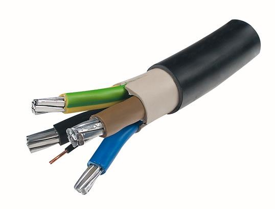 Electric Plants PVC Insulated Power Cable , NAYY J Aluminum Conductor Cable
