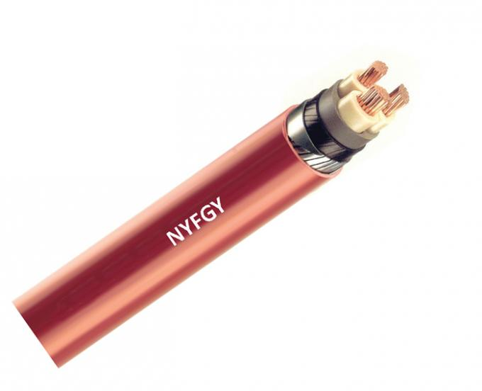NYFGY DIN VDE 0271 Low Voltage Cable Copper With Galvanized Flat Steel Wire Armouring