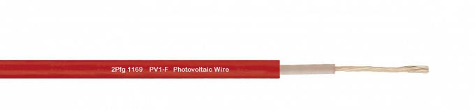 PV1-F 0.9 / 1.8KV 2mm Solar Power Cables , HEPR Single Core DC Photovoltaic Wire