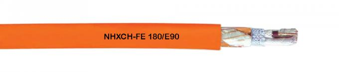 Halogen - Free NHXCH FE Fire Resistance Cable ISO9001 180 / E90 With Concentric Conductor