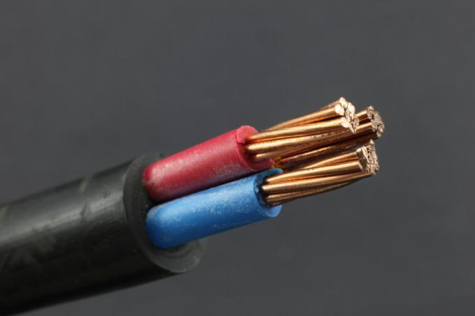Class 1 IEC 60502 - 1 Standard Low Voltage Cable Three Cores PVC Copper Construction None Armored