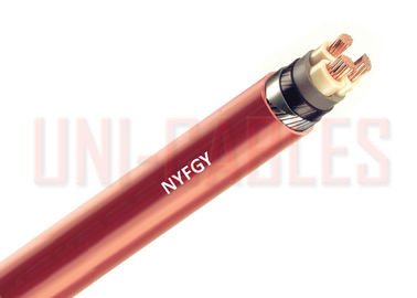 China NYFGY DIN VDE 0271 Low Voltage Cable Copper With Galvanized Flat Steel Wire Armouring supplier