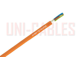 China 180 / E90 Fire Resistance Cable , 1 x 4 RE Orange Sheath Halogen Free Cable supplier