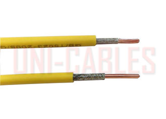 China Single Core Fire Resistance Cable BS6387 Copper Conductor Mica Tape Braided Wire supplier
