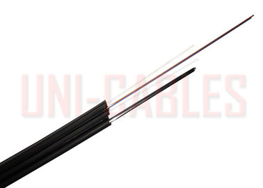 China Ftth 2 Core G652D Aerial Outdoor Drop Pvc Jack Frp Optical Fiber Cable 2Km Coil supplier