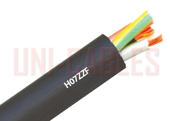 Flexible H07ZZ - F Rubber Multi Core Power Cable , Black Low Smoke ...