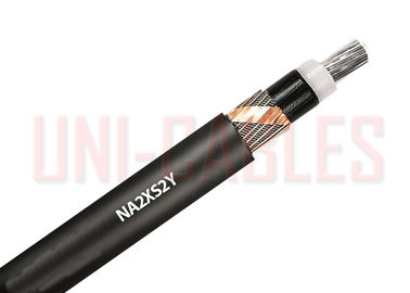 Aluminium Conductor NA2XS2Y Zero Halogen Medium Cable , Distribution Networks Medium Voltage Wire